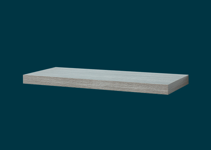 Floating Shelf Grey Oak 600x240x38mm