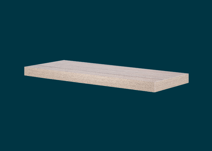 Floating Shelf Oak 600x240x38mm