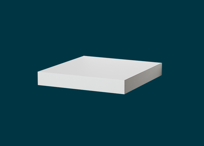 Floating Shelf White Gloss 250x250x38mm