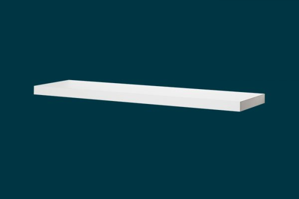 Flexi Storage Decorative Shelving Floating Shelf White Matt 900 x 240 x 38mm isolated