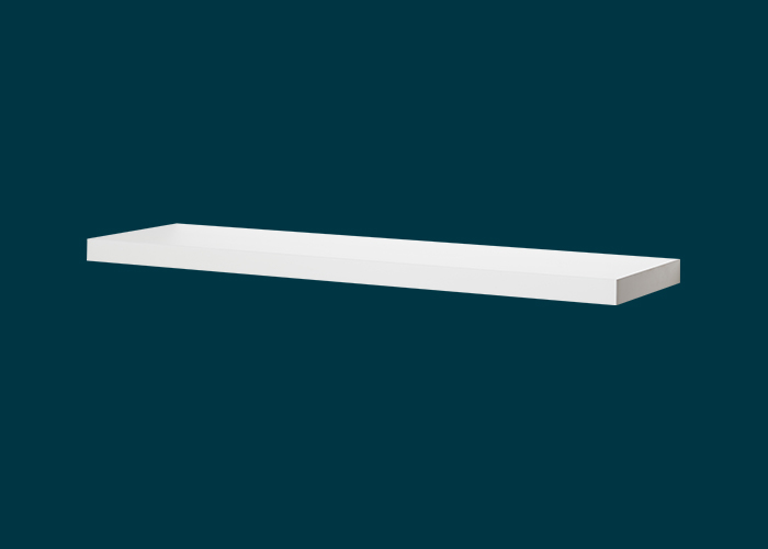 Floating Shelf White Matt 900x240x38mm