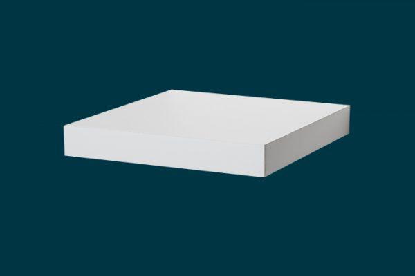 Flexi Storage Decorative Shelving Floating Shelf White Matte 250 x 250 x 38mm isolated