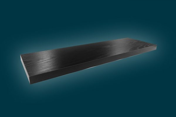 Flexi Storage Decorative Shelving Style Shelf Black Oak 600 x 190 x 24mm isolated