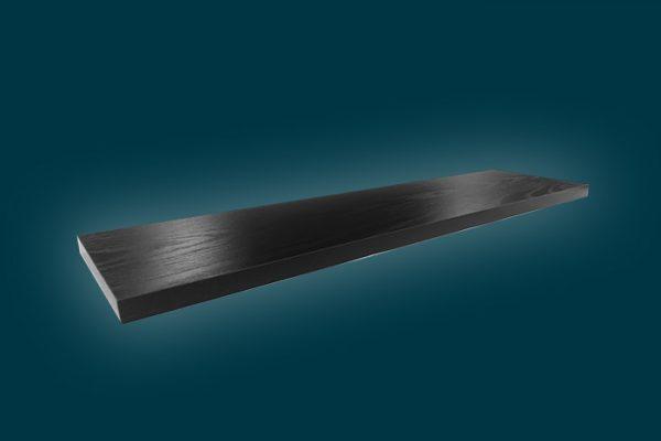Flexi Storage Decorative Shelving Style Shelf Black Oak 900 x 190 x 24mm isolated