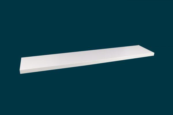 Flexi Storage Decorative Shelving Style Shelf White Matt 900 x 190 x 24mm isolated
