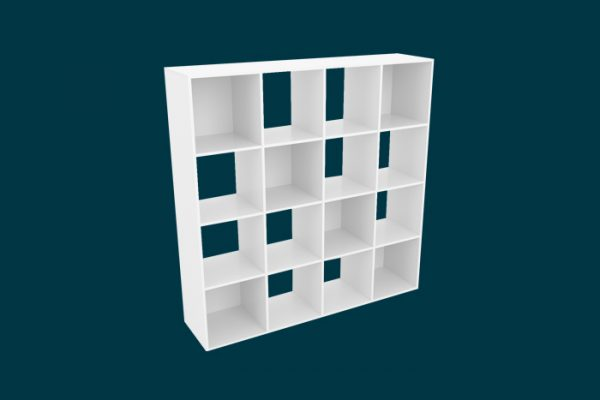 Flexi Storage Clever Cube Compact 4x4 Unit White isolated