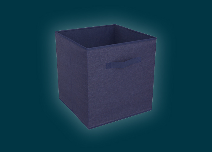 Clever Cube Compact Fabric Insert Navy Blue