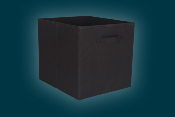 Flexi Storage Clever Cube Fabric Insert Black isolated