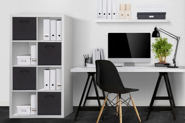 White in a home office