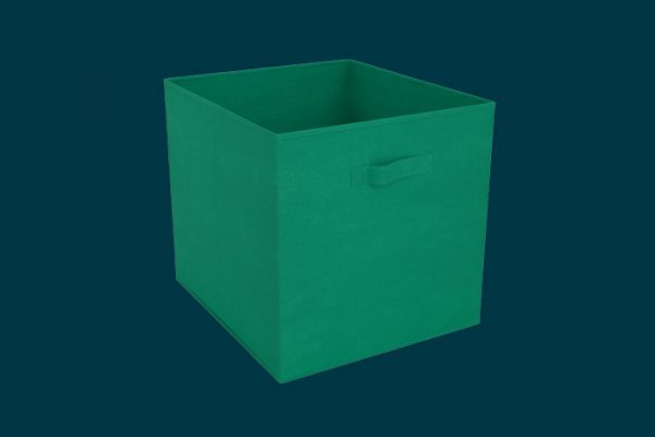 Flexi Storage Clever Cube Fabric Insert Jungle Green isolated