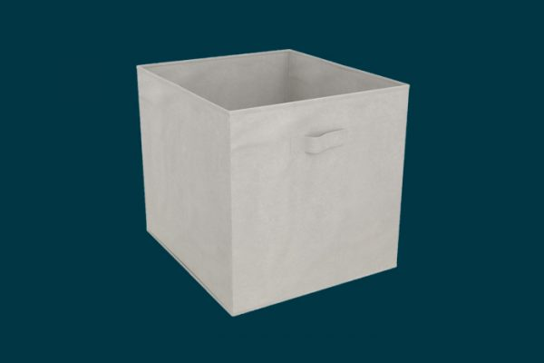 Flexi Storage Clever Cube Fabric Insert Light Grey isolated