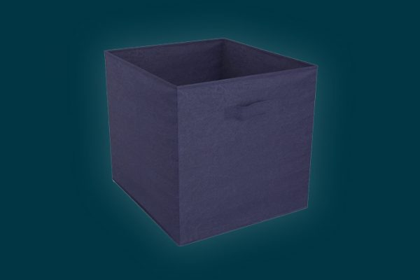 Flexi Storage Clever Cube Fabric Insert Navy Blue isolated