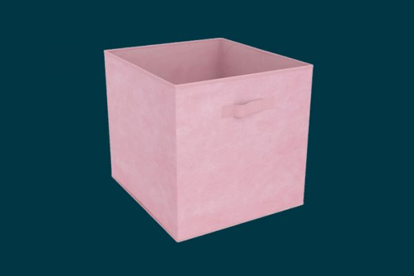 Flexi Storage Clever Cube Fabric Insert Pale Pink isolated
