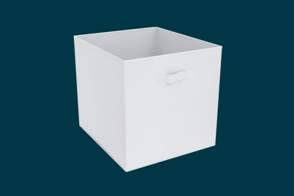 Flexi Storage Clever Cube Fabric Insert Vivid White isolated