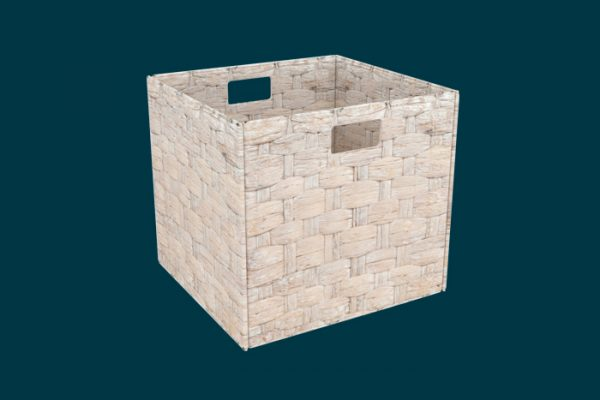 Flexi Storage Clever Cube Natural Insert Water Hyacinth White isolated