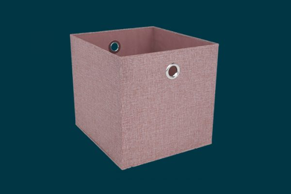 Flexi Storage Clever Cube Premium Fabric Insert Blush Pink isolated