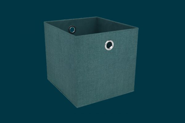 Flexi Storage Clever Cube Premium Fabric Insert Jade Green isolated