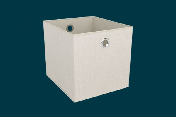 Flexi Storage Clever Cube Premium Fabric Insert Sandy White isolated