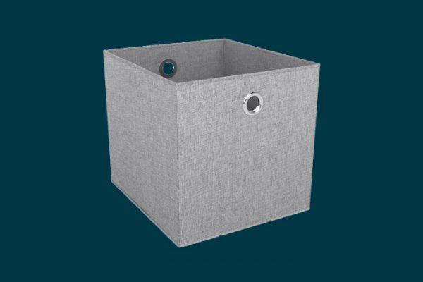 Flexi Storage Clever Cube Premium Fabric Insert Woven Silver isolated