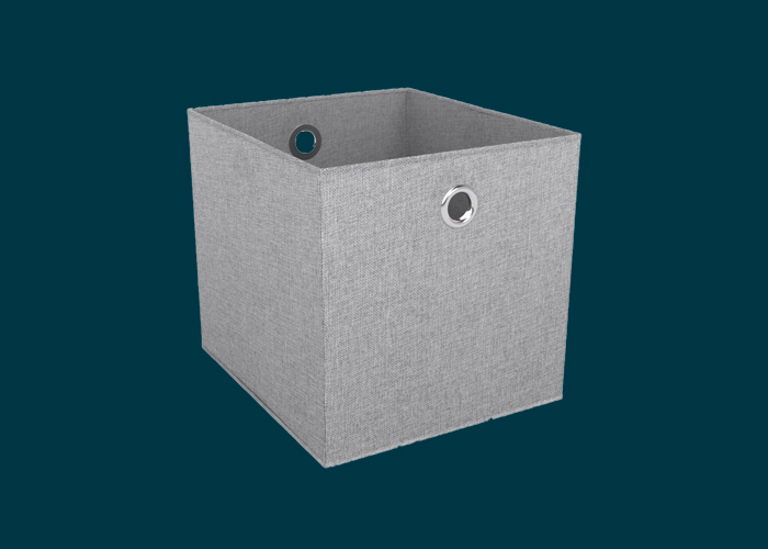 Clever Cube Premium Fabric Insert Woven Silver