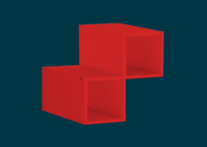 Clever Cube Timber Insert Divider Red