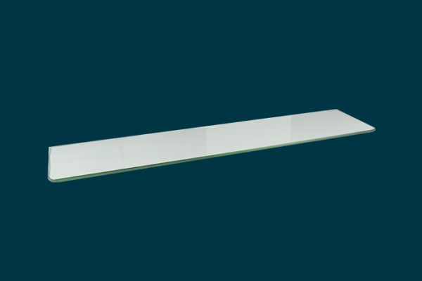 Flexi Storage Decorative Shelving Glass Shelf 800x200x8mm isolated