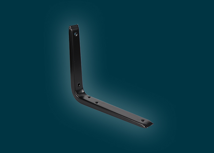 Reinforced Bracket Black 250x200mm