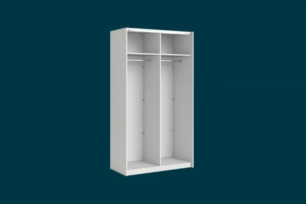 Flexi Storage Wardrobe 2 Door Sliding Wardrobe Frame White isolated