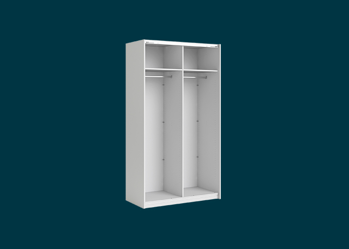 Sliding Wardrobe 2 Door Frame White