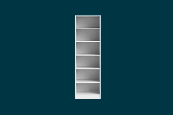 Flexi Storage Wardrobe Walk-In Wardrobe 6 Shelf Unit White isolated