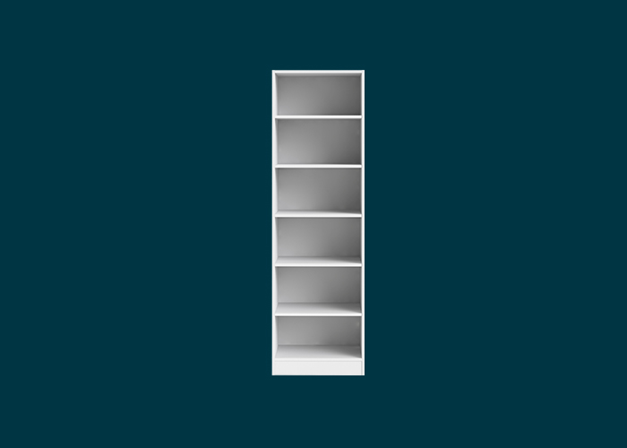 Walk-In Wardrobe 6 Shelf Unit White