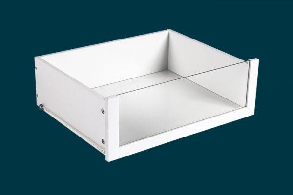 Flexi Storage Wardrobe Walk-In Wardrobe Glass Front Drawer isolated