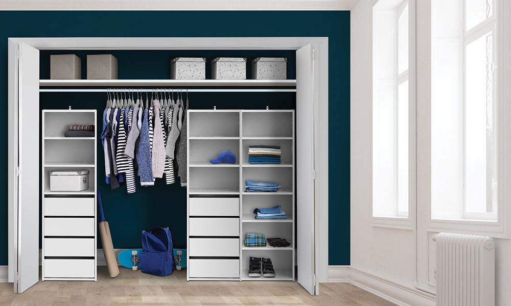 Flexi Storage Wardrobe Built-In Wardrobe setup using the Built-In Wardrobe Range