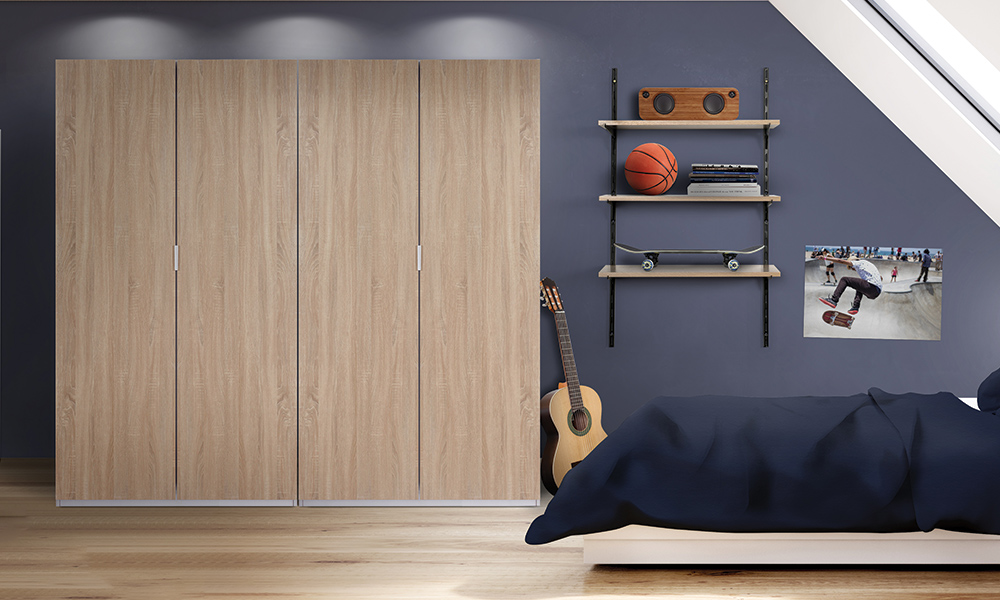 Flexi Storage Wardrobe Hinged Wardrobe in bedroom using two Hinged Wardrobe 2 Door Frames with Hinged Wardrobe Oak Doors
