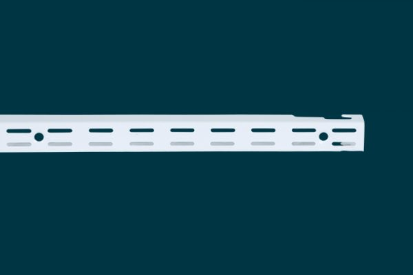 Flexi Storage Home Solutions 1206mm Double Slot Wall Strip White isolated
