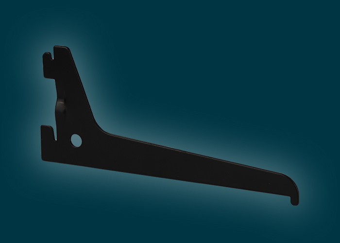Home Solutions Single Slot Bracket Black 150mm