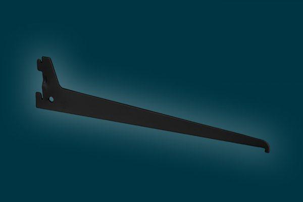 Flexi Storage Home Solutions 300mm Single Slot Bracket Black isolated