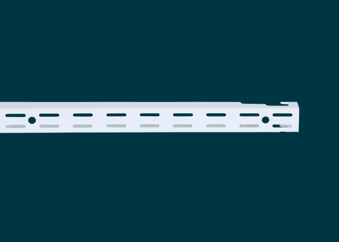Home Solutions Double Slot Wall Strip White 762mm