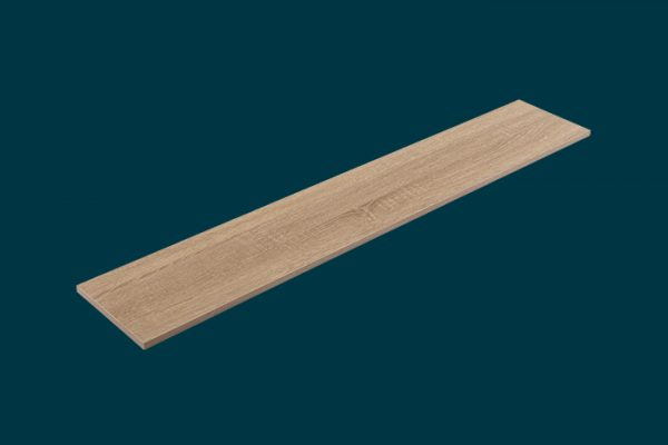 Flexi Storage Home Solutions Timber Shelf Oak 1200x200x16mm isolated