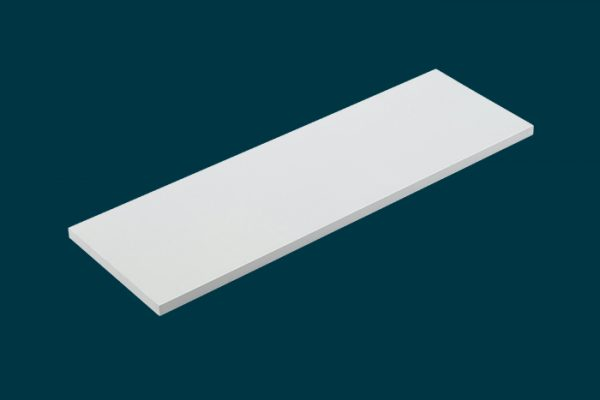 Flexi Storage Home Solutions Timber Shelf White 600x200x16mm isolated