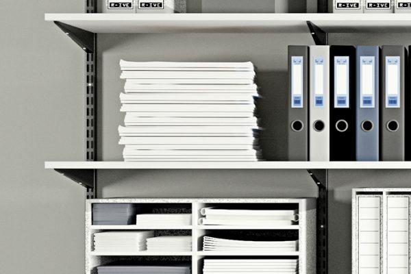 Flexi Storage Home Solutions Shelf Fixing Screws used to affix a Double Slot Bracket to a Timber Shelf