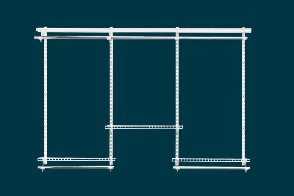 Flexi Storage Home Solutions 1.8m Wardrobe Starter Kit White isolated