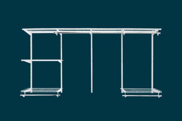 Flexi Storage Home Solutions 2.4m Wardrobe Starter Kit White isolated