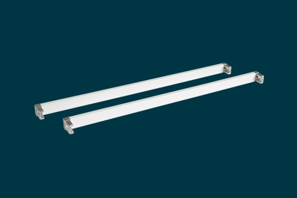 Flexi Storage Home Solutions 435mm Cross Bars and L Connectors White isolated