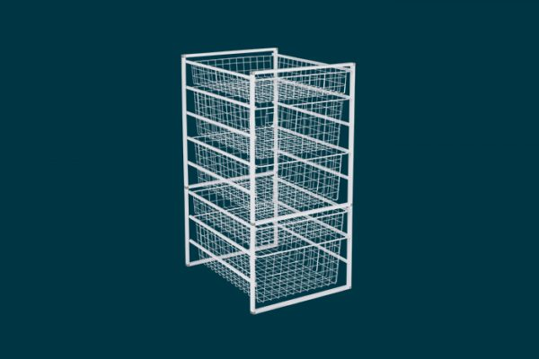 Flexi Storage Home Solutions 8 Runner Kit With Baskets White isolated