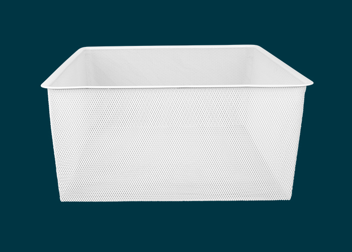 Home Solutions Full Width Mesh Basket 2 Runner White 185mm