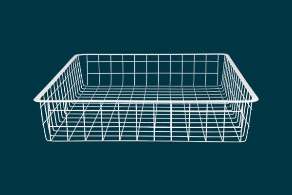 Flexi Storage Home Solutions Full Width Wire Basket 1 Runner 85mm isolated