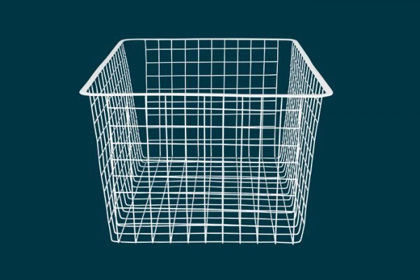 Flexi Storage Home Solutions Full Width Wire Basket 3 Runner 285mm isolated