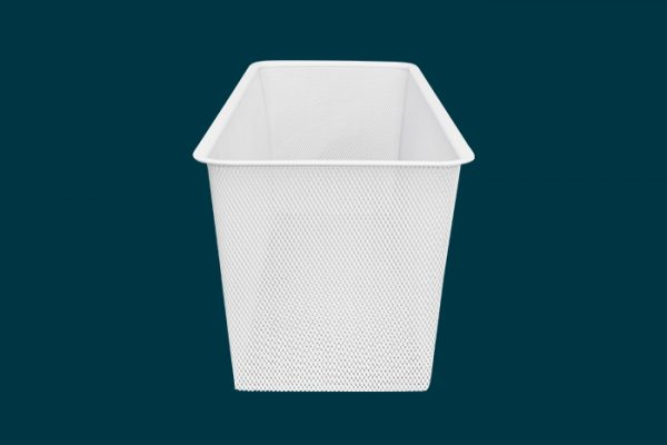 Flexi Storage Home Solutions Half Width Mesh Basket 2 Runner 185mm isolated
