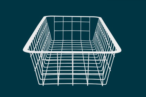 Flexi Storage Home Solutions Half Width Wire Basket 1 Runner 85mm isolated